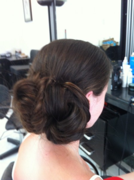 Maid hair up on side