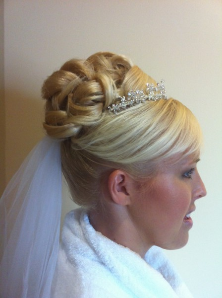 Side View of Bridal Up Style