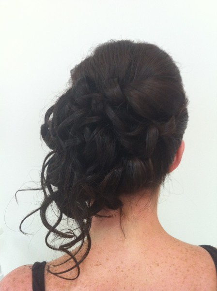Back View of Mariannes side Up Style