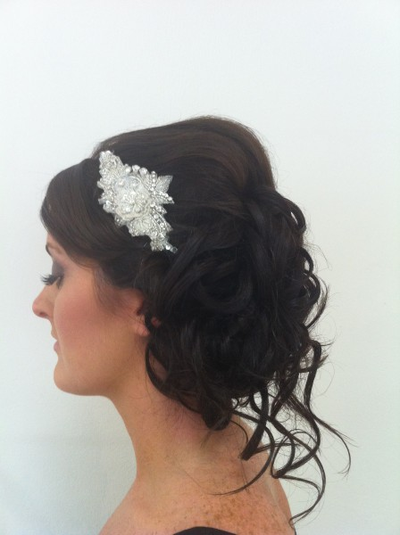 Side View of Mariannes side Up Style