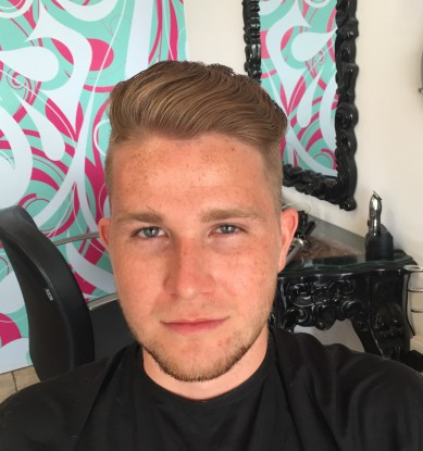 Front View of Male Haircut